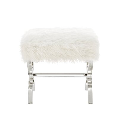 Lina X-Leg Ottoman Upholstery: Cream White