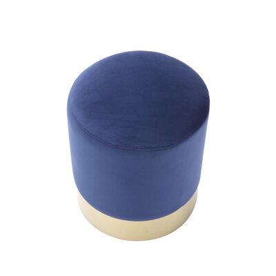 Labonte Ottoman Upholstery: Navy/Gold