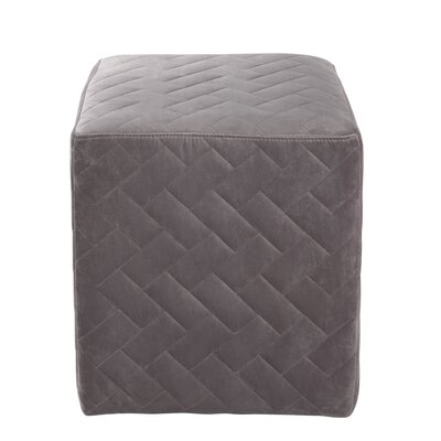 Grayson Brick Quilted Cube Ottoman Upholstery: Gray