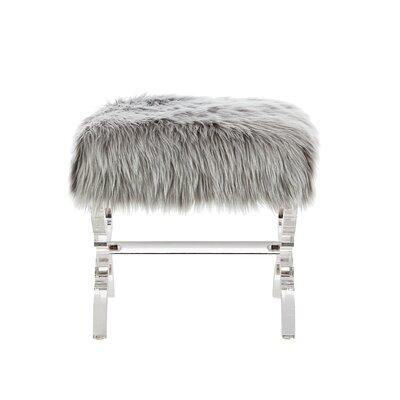 Lina X-Leg Ottoman Upholstery: Gray