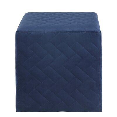 Grayson Brick Quilted Cube Ottoman Upholstery: Navy