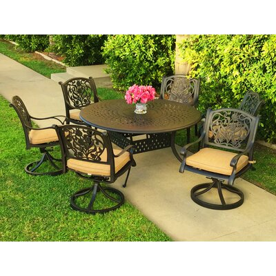 Image of Camptown 7 Piece Sunbrella Dining Set with Cushions