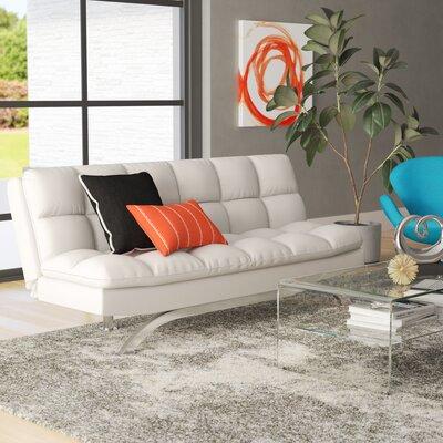Syre Sleeper Sofa Upholstery: White