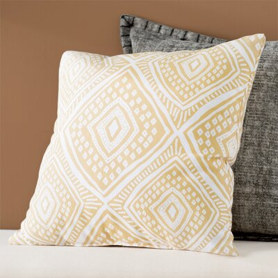 Adler Square Outdoor Throw Pillow Size: 18 H x 18 W x 3 D, Color: Yellow