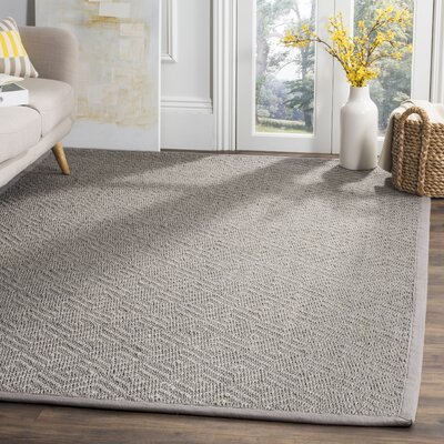 Freitag Light Gray Area Rug Rug Size: Square 6 x 6