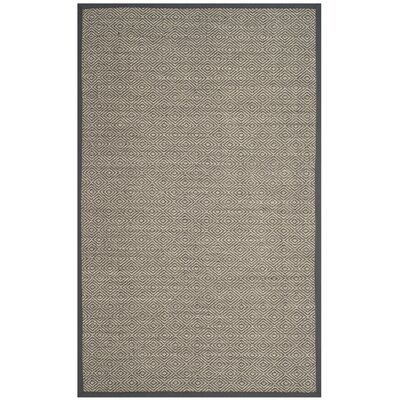 Freels Natural/Gray Area Rug Rug Size: Rectangle 5 x 8