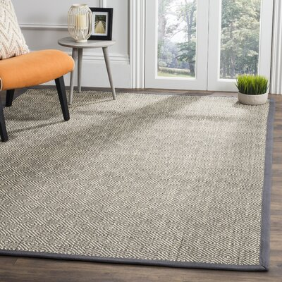 Freels Natural/Gray Area Rug Rug Size: Square 6 x 6
