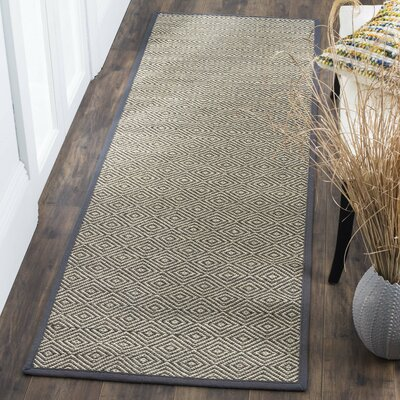 Freels Natural/Gray Area Rug Rug Size: Runner 26 x 8
