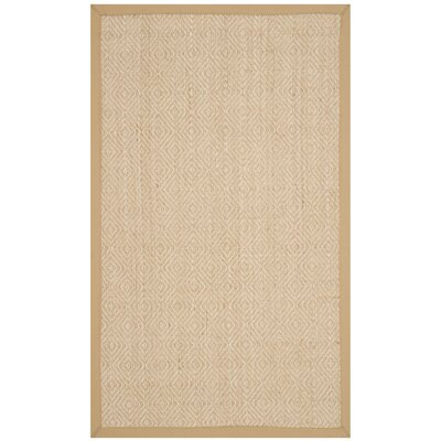 Freels Natural/Beige Area Rug Rug Size: Rectangle 4 x 6
