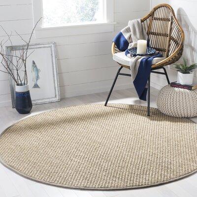 Shoreham Beige Area Rug Rug Size: Round 6 x 6