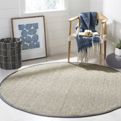 Freels Natural/Gray Area Rug Rug Size: Round 6 x 6