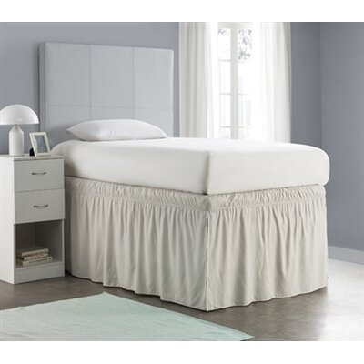 Whitehurst Ruffled Dorm Sized Bed Skirt Color: Silver Birch