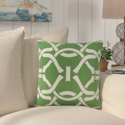 Southlake Cotton Throw Pillow Color: Green/ White