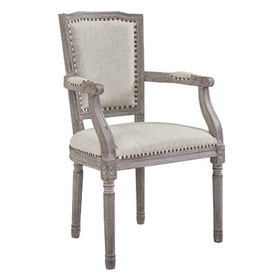 Varnado Vintage French Upholstered Dining Chair Upholstery: Beige