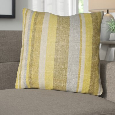 Zebrowski Indoor/Outdoor Throw Pillow Size: 20 H x 20 W, Color: Gold/Bright Yellow