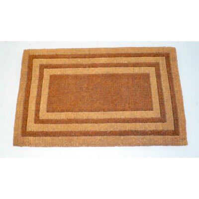 Balmer Bleach Triple Border Doormat Mat Size: Rectange 2 x 33, Color: Brown/Yellow