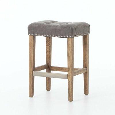 Alarcon 25 Bar Stool Upholstery: Gray