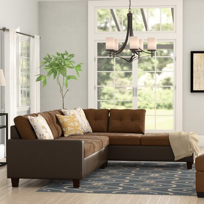 Brewster Sectional Upholstery: Java / Chocolate