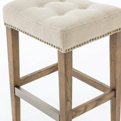 Alarcon 25 Bar Stool Upholstery: Light