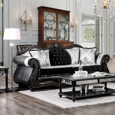 Rieves Sofa Upholstery: Black