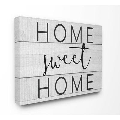 'Home Sweet Home Planks' Textual Art