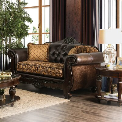 Riddles Loveseat Upholstery: Tan
