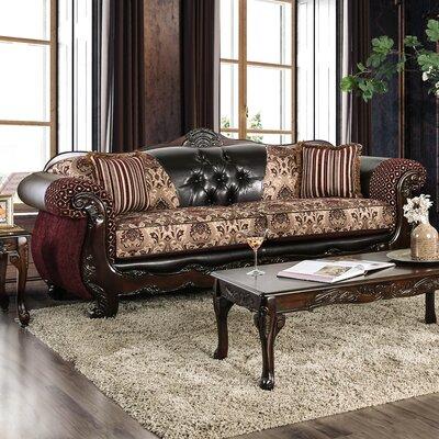 Riddles Sofa Upholstery: Burgundy
