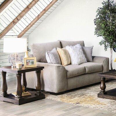 Tomas Loveseat Upholstery: Gray