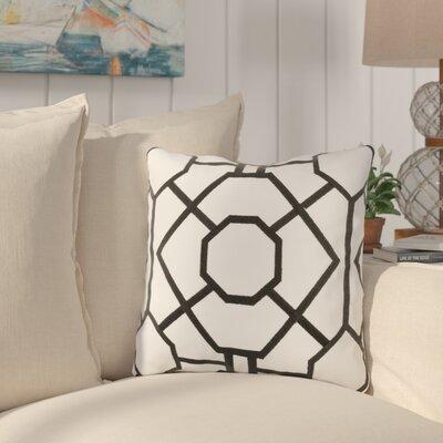 Southlake Cotton Throw Pillow Color: White/ Black