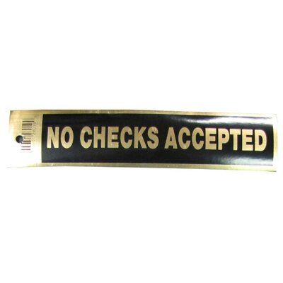 No Checks Sign