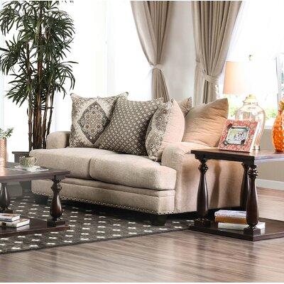 Dirks Loveseat Upholstery: Light Brown