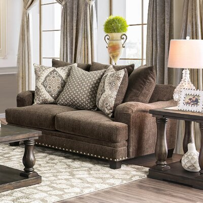 Dirks Loveseat Upholstery: Dark Brown