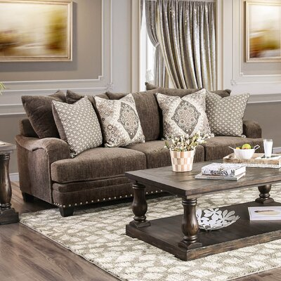 Dirks Sofa Upholstery: Dark Brown