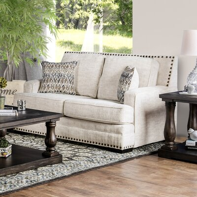 Mathieson Loveseat Upholstery: Ivory
