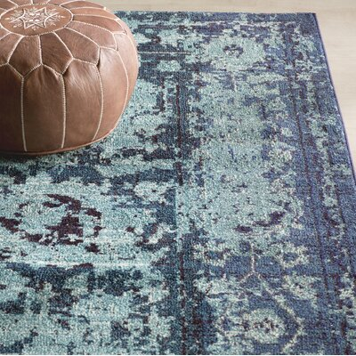 Charleena Blue Area Rug Rug Size: Rectangle 8 x 10