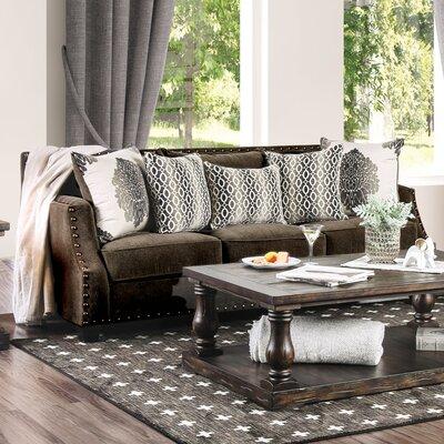 Myra Sofa Upholstery: Dark Brown