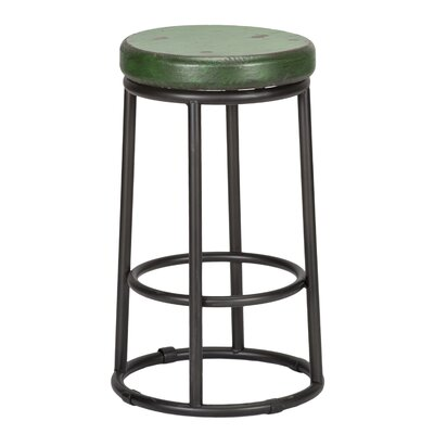 Hiott 24 Bar Stool Color: Green