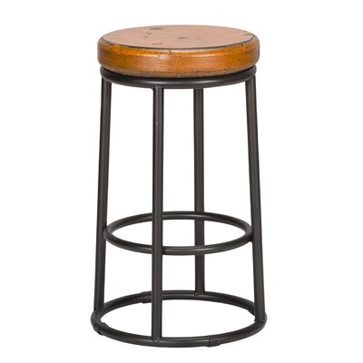 Hiott 24 Bar Stool Color: Orange