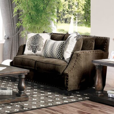 Myra Loveseat Upholstery: Dark Brown