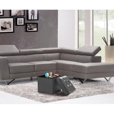 Lonon Storage Ottoman Upholstery: Gray, Size: 15H x 45W x 15D