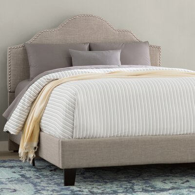 Kinnison Upholstered Panel Bed Size: Queen, Color: Light Gray