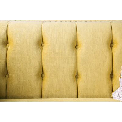 Mylor Loveseat Upholstery: Yellow