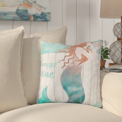 Cervantez Mermaid Dreams Indoor/Outdoor Throw PIllow
