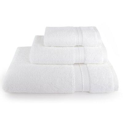 3 Piece Towel Set Color: White