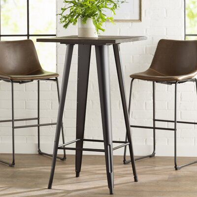Kori Loft Black Pub Table Color: Black