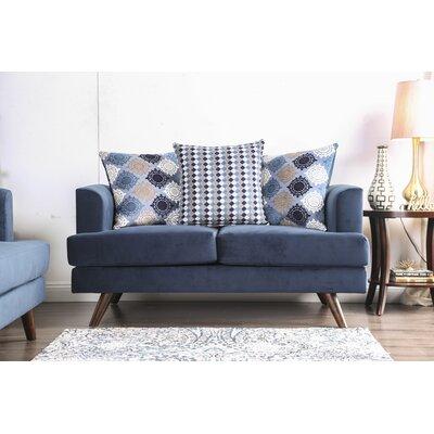 Landover Loveseat Upholstery: Blue