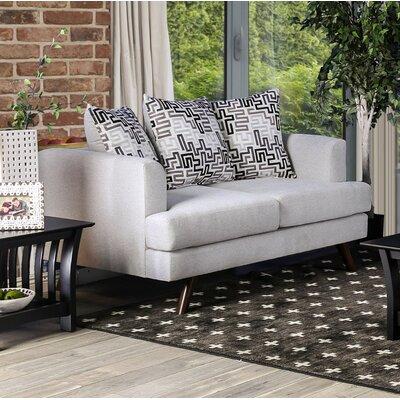 Landover Loveseat Upholstery: Silver