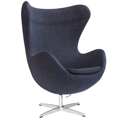 Schnieders Swivel Armchair Upholstery: Black