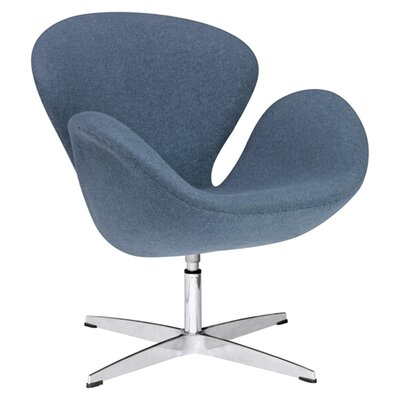 Schnell Swan Swivel Armchair Upholstery: Blue