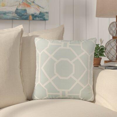 Southlake Cotton Throw Pillow Color: Dusty Aqua/ White